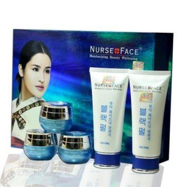 Bo my pham dac tri nam Nurse face xanh Han Quoc (1)