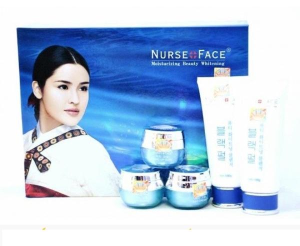 Bo my pham dac tri nam Nurse face xanh Han Quoc (3)