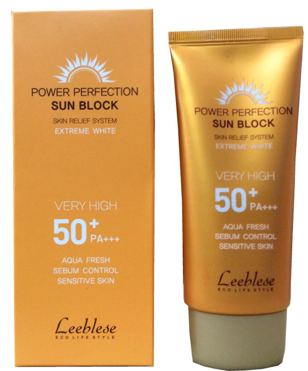 Kem chong nang Leeblese Power Perfection Sun Block 50+PA+++ (1)