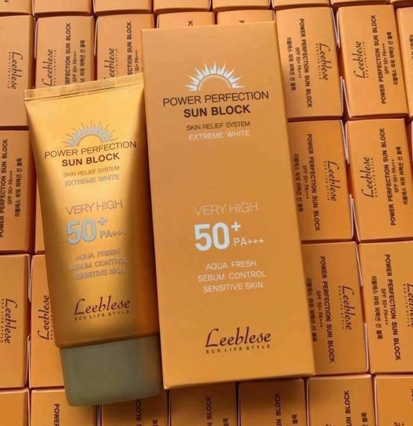 Kem chong nang Leeblese Power Perfection Sun Block 50+PA+++ (3)