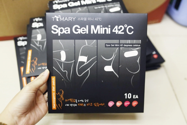 Mieng dan tan mo bap tay, bap dui Spa Gel Patch 42°C (10 mieng) (2)