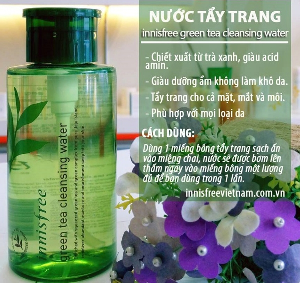 Nuoc tay trang Innisfree Green Tea Cleansing Water 300ml (1)