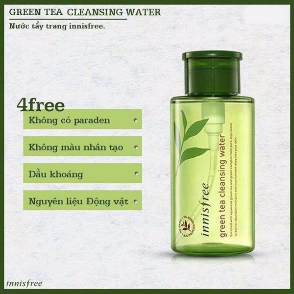 Nuoc tay trang Innisfree Green Tea Cleansing Water 300ml (4)