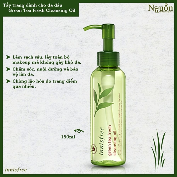 Dau tay trang Innisfree Green Tea Fresh cho da dau (8)