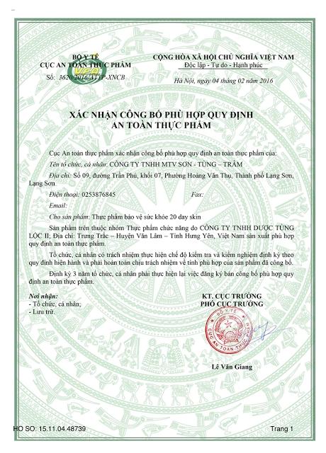 Thuc Pham Lam Dep 20 Day Skin - Tri Mun, Tri Nam Cho Phai Dep (2)