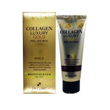 Mat na vang duong da 3W Clinic Collagen Luxury Gold Peel Off Pack 100g (4)