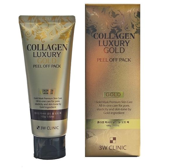Mat na vang duong da 3W Clinic Collagen Luxury Gold Peel Off Pack 100g (5)