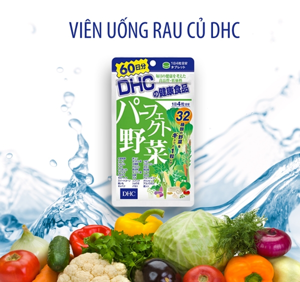 Vien Uong DHC 32 Loai Rau Cu Qua 240 vien - Nhat ban (2)
