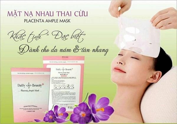 Mat na nhau thai cuu Placenta Ample Mask - Han Quoc (8)