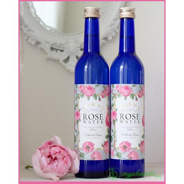 Nuoc uong toa huong hoa hong Rose Water Damask 500ml - Nhat ban (2)