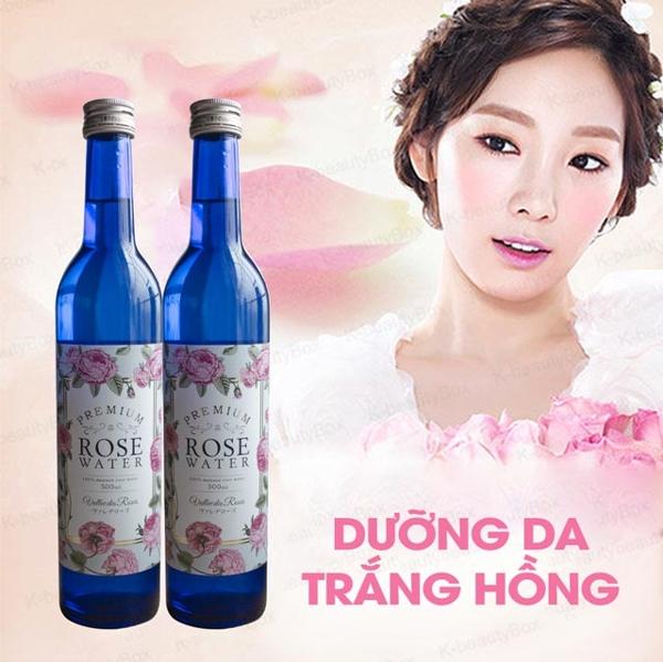 Nuoc uong toa huong hoa hong Rose Water Damask 500ml - Nhat ban (7)