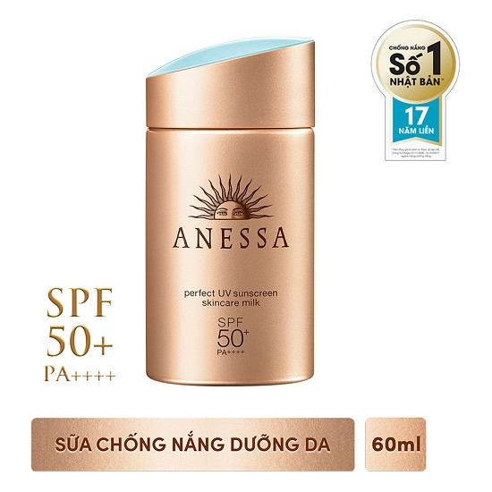 Sua chong Nang Anessa Perfect UV 60ml - Nhat ban Sunscreen Skincare Milk SPF50+PA+++ (8)