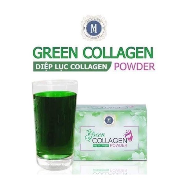 Diep luc Collagen (Green Collagen Powder) - dep da, chong lao hoa, can bang noi tiet (4)