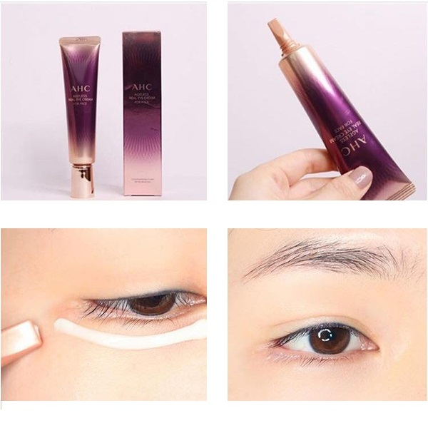 Kem duong da mat AHC Ageless Real Eye Cream For Face (2)