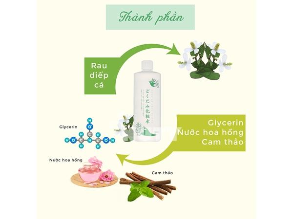 Nuoc hoa hong diep ca Dokudami Natural Skin Lotion Nhat (2)