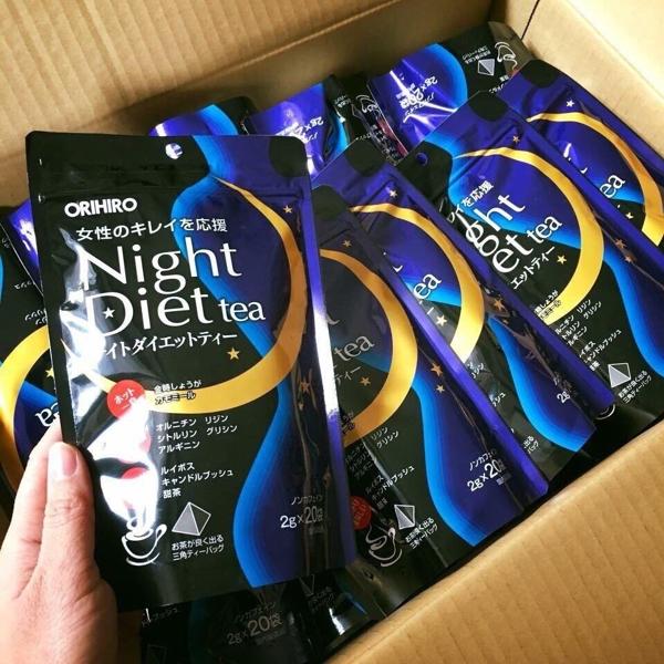 Tra Ho Tro Giam Can Orihiro Ban Dem Night Diet Tea Nhat Ban (5)