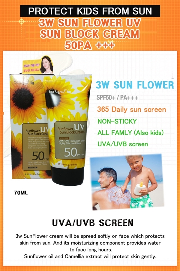 Kem chong nang Sunflower UV Sun Block Cream SPF50Pa+++ (1)