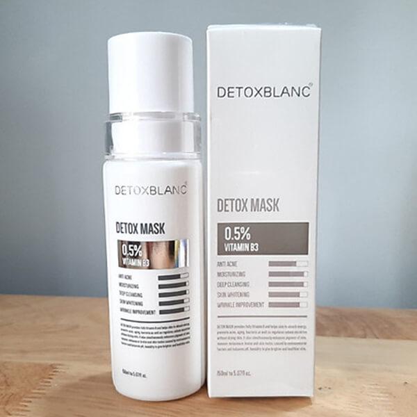 Mặt nạ thải độc Detox BlanC - trắng da, Than hoạt tính