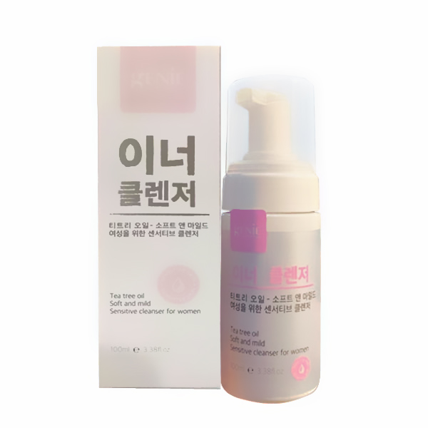 dung dich ve sinh phu nu genie - tea tree oil soft and mild sensitive cleanser for women (4)
