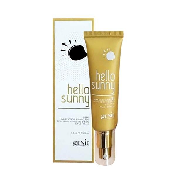 sua chong nang genie hello sunny milky cool sun block spf50 pa+++ (2) - Copy