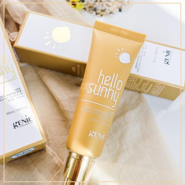 sua chong nang genie hello sunny milky cool sun block spf50 pa+++ (4)