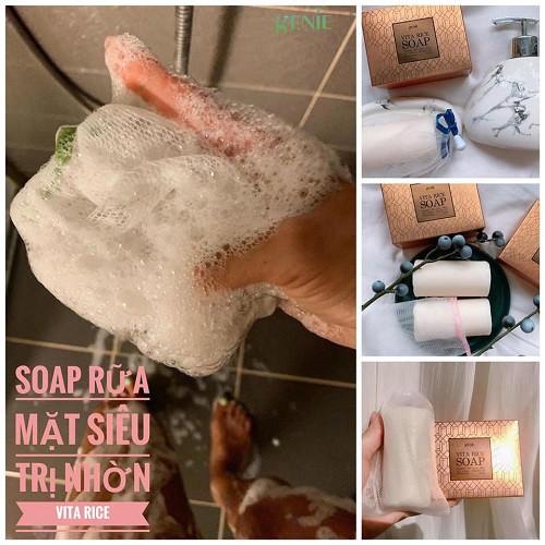 hướng dẫn sử dụng soap rửa mặt trị mụn genie