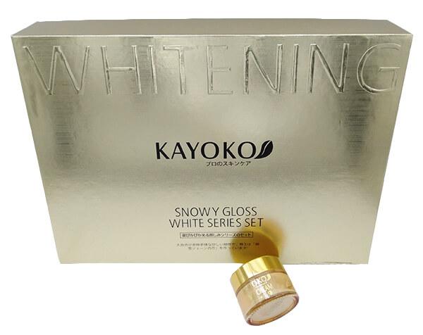 kích thước của Kem ban Ngày Kayoko Vàng 5in1 so với bộ