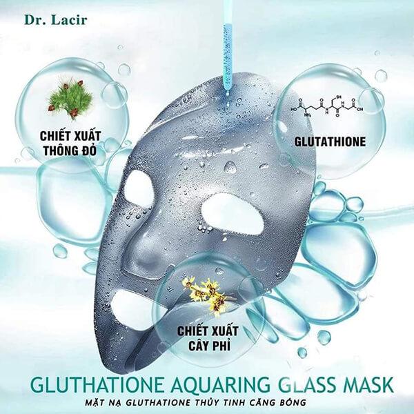 thành phần của Mặt nạ GLUTATHIONE thủy tinh căng bóng - Dr. Lacir