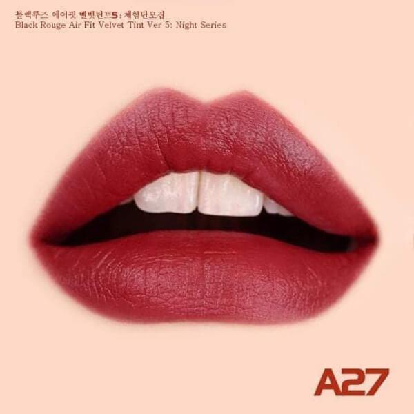 mau 27 Son kem lì Black Rouge Air fit velvet tint ver 5 bam - Hàn quốc