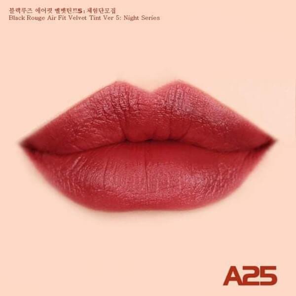 màu 25 Son kem lì Black Rouge Air fit velvet tint ver 5 bam - Hàn quốc
