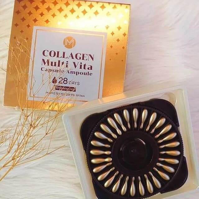 quy cách Viên collagen tươi ammud hộp 28 viên của hàn quốc