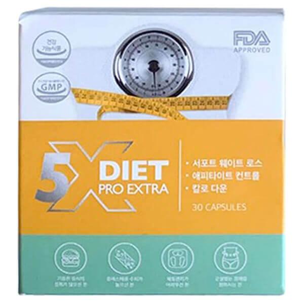 quy cách hộp Viên giảm cân Genie X5 Diet pro extra 30 viên hiệu quả gấp 5