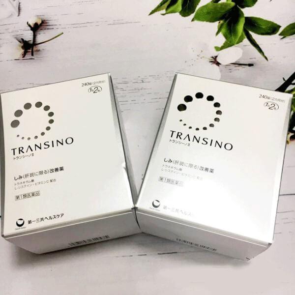 hình ảnh 2 hộp Viên uống Transino Whitening nhật bản