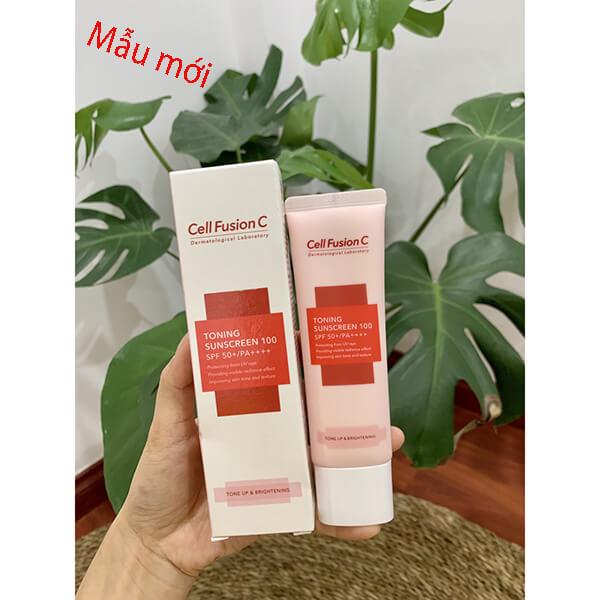 Kem chống nắng Cell Fusion c Toning sunscreen 100 spf 50+