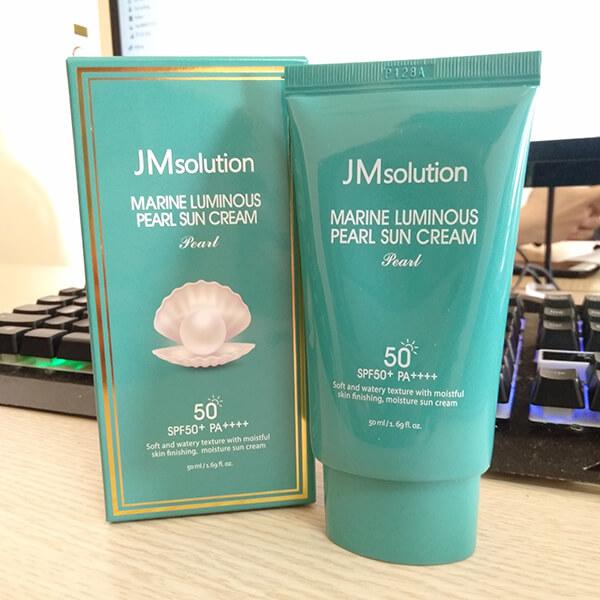 quy cách kem chống nắng Sun Cream JM Solution