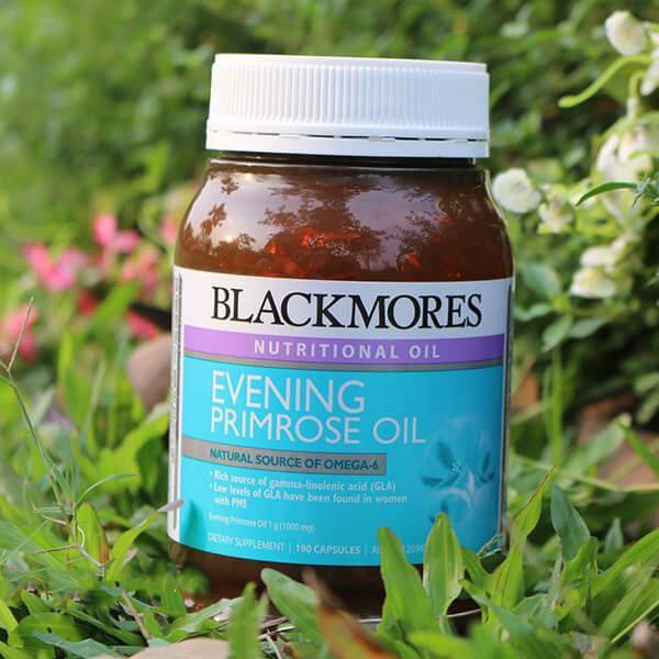 quy cách Viên tinh dầu Hoa Anh Thảo Blackmores evening primrose oil 190 viên