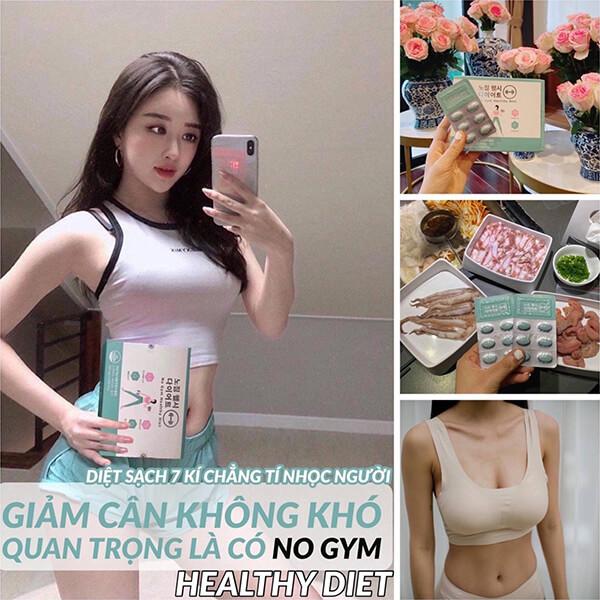 quy cách Viên uống giảm cân Genie no gym healthy diet Hàn quốc