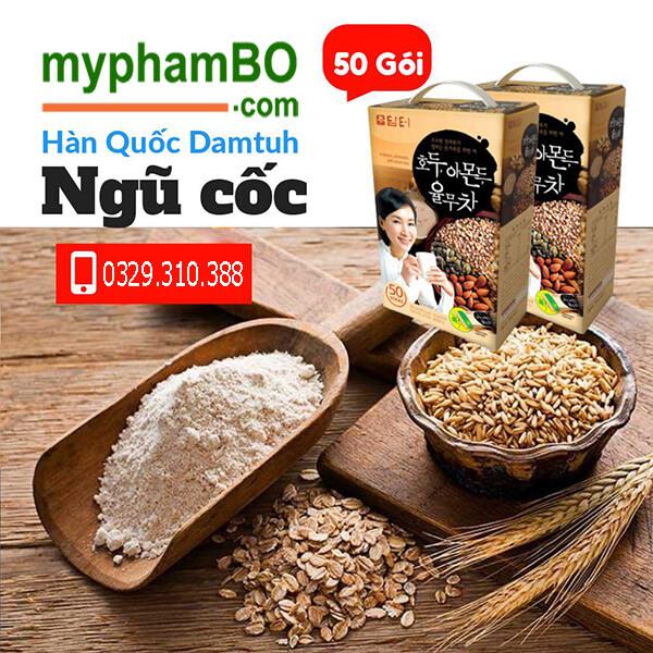 quy cách Bột ngũ cốc dinh dưỡng Dantuh hạnh nhân óc chó 50 gói - Hàn Quốc