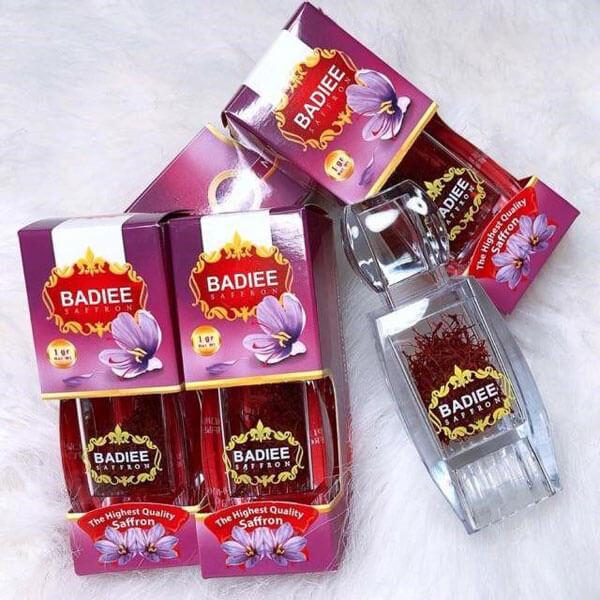 quy cách Nhụy hoa nghệ tây Saffron Badiee Iran 3 hộp 1 chính hãng