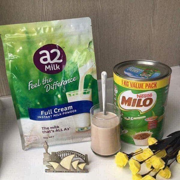 quy cách Sữa tươi A2 nguyên kem dạng bột 1kg của úc