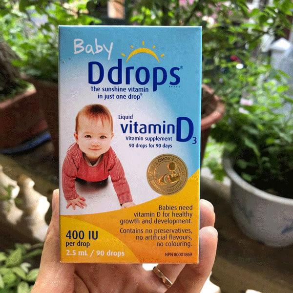 quy cách vitamin d3 Ddrops cho trẻ của mỹ