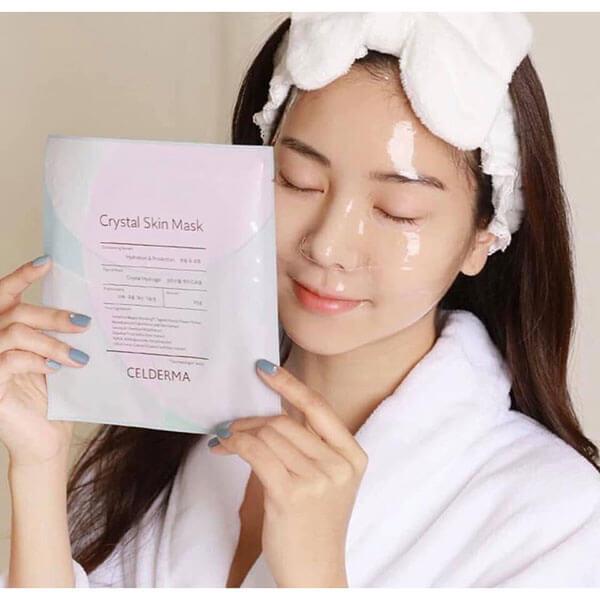 quy cách Mặt nạ Celderma crystal skin mask