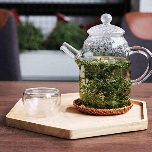 bình trà hoa sâm hàn quốc