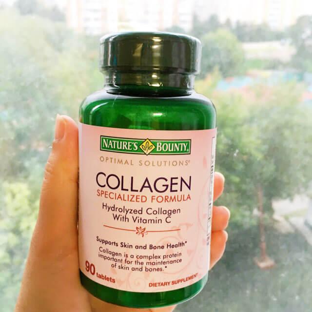 quy cách Viên uống bổ sung Collagen With Vitamin C của nga