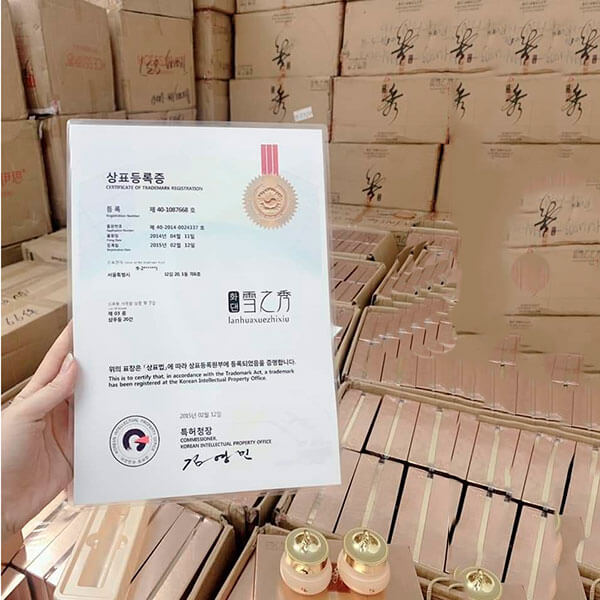 quy cách Bộ mỹ phẩm LanHua trị nám tàn nhang Hàn quốc