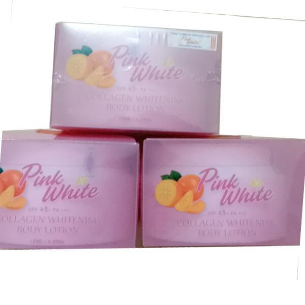 Kem Trắng Da Body Pink white collagen whitening