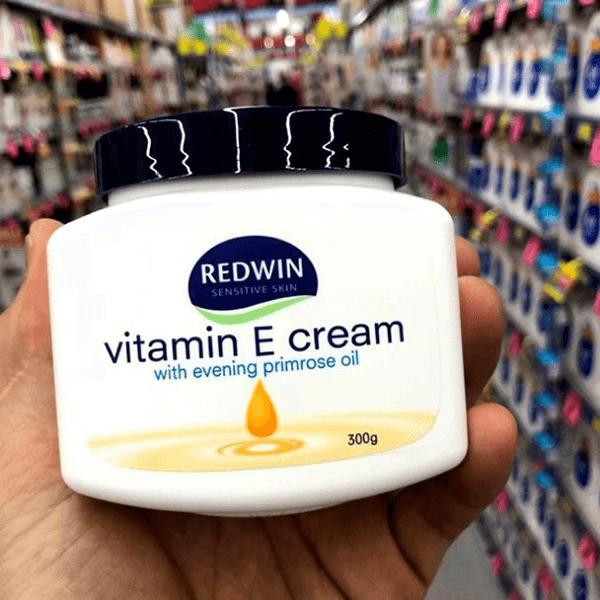 Kem dưỡng da Úc Redwin vitamin E cream 300gam mềm mịn