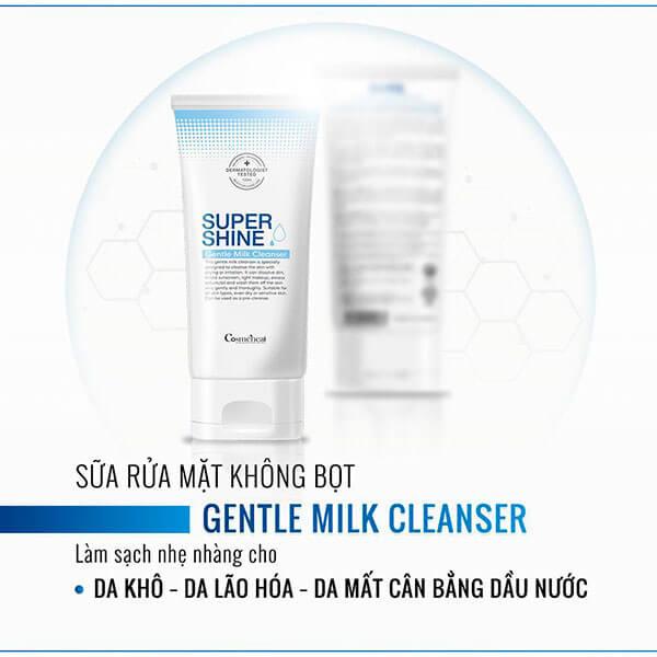 Sữa rửa mặt Cosmeheal SUPERSHINE Double Cleansing Foam & Gentle Milk Cleanser