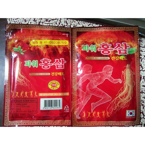 Cao dán Hồng Sâm Power Red Ginseng đỏ hàn quốc