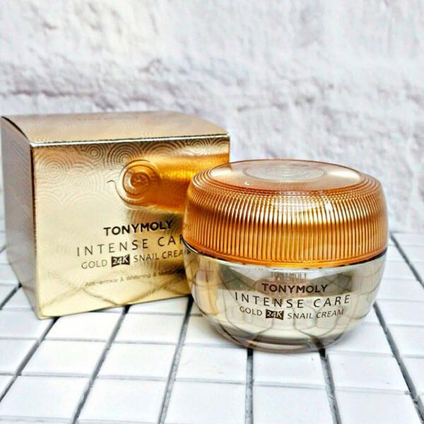 Kem dưỡng ốc sên Tonymoly Intense Care Gold 24K Snail Cream